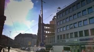 Abrissarbeiten am Friedrichring schaffen Platz für Stadtentwicklung und neue Baukultur.