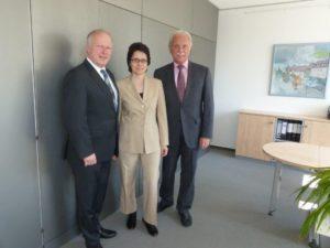 (v.l.) Peter Weiß, Marion Gentges, Horst Sahrbacher. Foto: privat