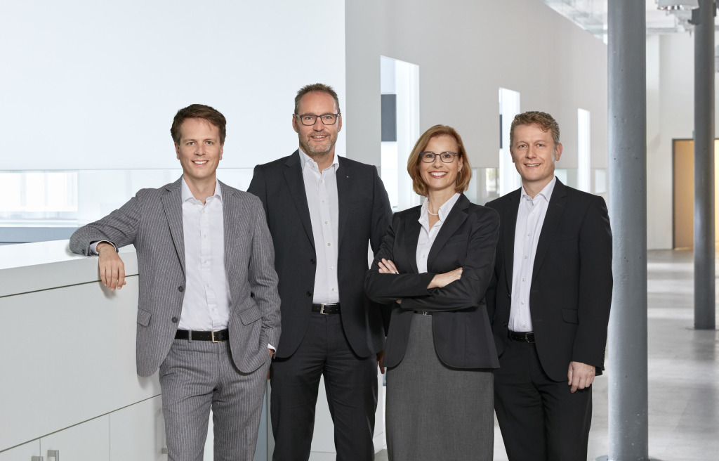 Felix Mathiowetz, Michael Ganter, Bettina Zimmermann, Bernhard Früh. Foto: Ganter Interior GmbH