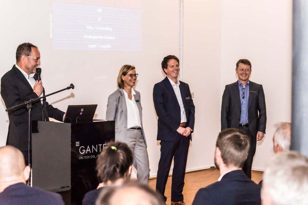Michael Ganter, Bettina Zimmermann, Felix Mathiowetz, Dr. Andreas Wagenknecht (Referent) Bernhard Früh (alle Geschäftsführung). Foto: Ganter