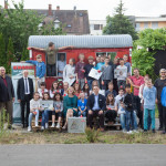 Kerstin Andreae MdB übergibt GeoKoffer an Evangelisches Montessori-Schulhaus Freiburg