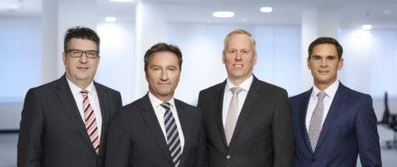 Weiterhin anbei ein Foto der neuen Geschäftsleitung.  v.l.n.r.: Dirk Schmitt, Dietmar Gierse, Rainer Schwörer, Michael Dold