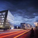 Richtfest für neues Bürogebäude in der Schnewlinstraße