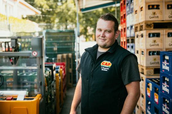 Kevin Margenfeld Leiter vom CAP-Markt Pfaffenweiler