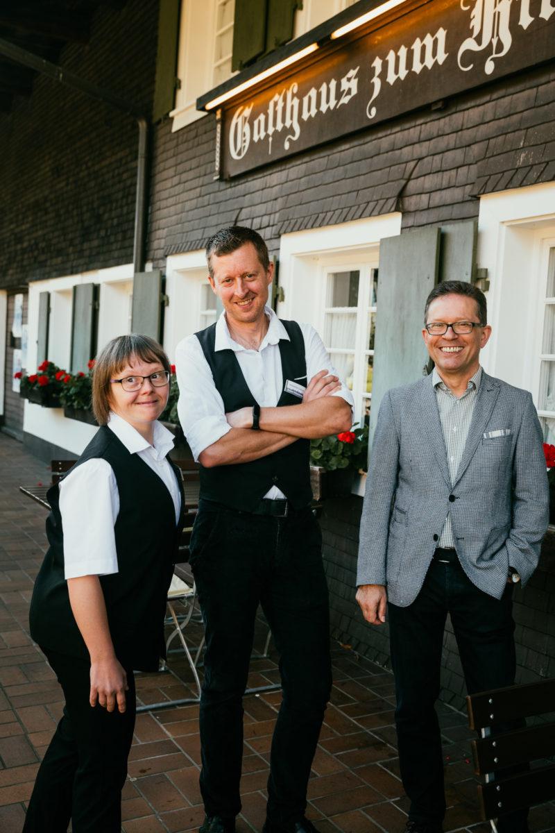 Heike Kromer, Max Gräßlin und Thomas Puchan vom Hofgut Himmelreich